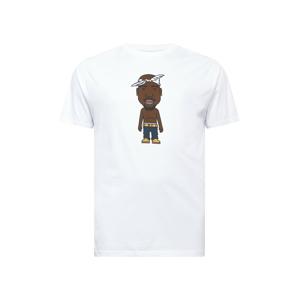 Mister Tee Plus Size Tričko  offwhite / tmavě hnědá / černá / námořnická modř / mix barev
