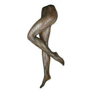 Swedish Stockings Jemné punčocháče 'Edith Lace tights'  tmavě zelená