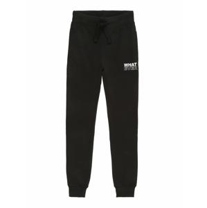 BLUE SEVEN Kalhoty  černá / bílá
