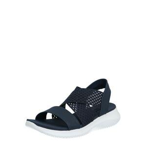 SKECHERS Páskové sandály 'Ultra flex neon star'  noční modrá