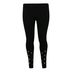 Urban Classics Curvy Kalhoty 'Ladies Eyelet Leggings'  černá