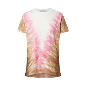 Ragdoll LA Tričko 'Tie Dye Vintage'  bílá / pink