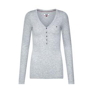 Tommy Jeans Tričko  šedý melír