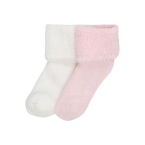 LILIPUT Ponožky  růžová / bílá