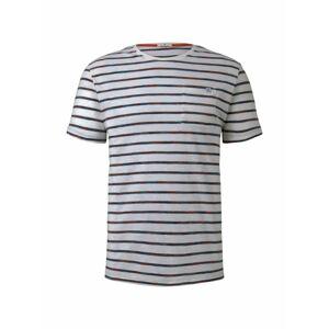 TOM TAILOR Tričko  modrá / bílá / červená