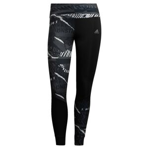 ADIDAS PERFORMANCE Sportovní kalhoty  šedá / černá / bílá