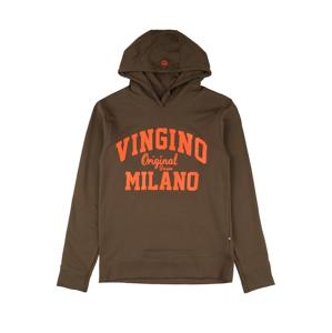 VINGINO Mikina  oranžová / tmavě hnědá
