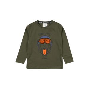 STACCATO Tričko  khaki / tmavě oranžová / tmavě šedá / kouřově modrá