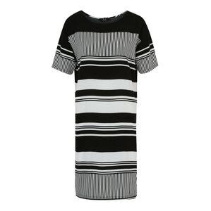 modström Koktejlové šaty 'Klea'  černá / bílá