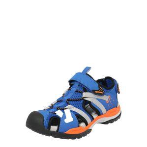 GEOX Otevřená obuv 'BOREALIS'  modrá / šedá / oranžová / černá