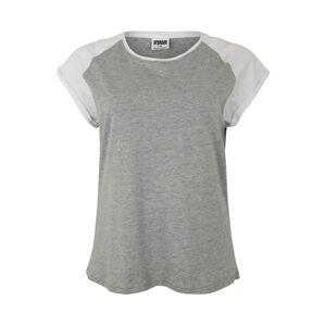 Urban Classics Tričko  bílá / šedý melír