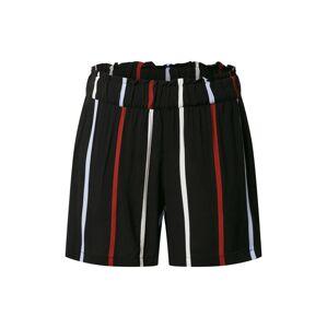 TOM TAILOR DENIM Kalhoty  červená / černá / bílá
