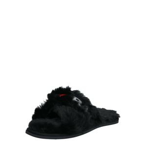 Karl Lagerfeld Pantofle 'SALOTTO II'  černá / stříbrná / melounová