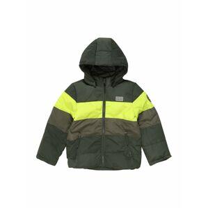 LEGO WEAR Zimní bunda  tmavě zelená / svítivě žlutá