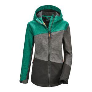KILLTEC Outdoorová bunda 'Lynge'  tmavě šedá / smaragdová / šedá