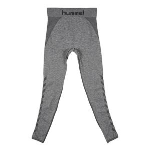Hummel Sportovní kalhoty 'AVA'  šedá / černá