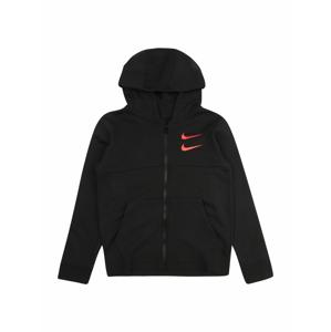 Nike Sportswear Mikina 'SWOOSH'  černá / tmavě oranžová