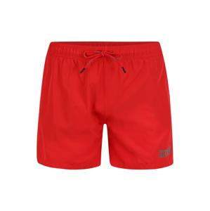HUGO Plavecké šortky 'HAITI'  světle červená / stříbrně šedá