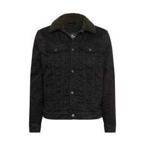 HOLLISTER Přechodný kabát 'Sherpa'  černá džínovina
