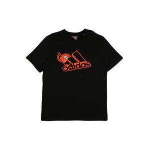 ADIDAS PERFORMANCE Funkční tričko  černá / oranžová