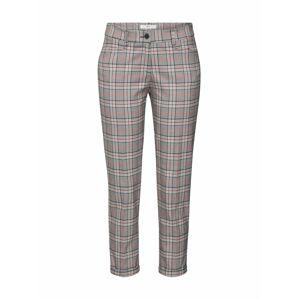 BRAX Chino kalhoty 'MARON'  šedá / bílá / oranžově červená / kaštanově hnědá
