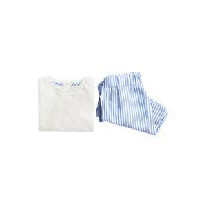 MANGO KIDS Pyžamo 'ALVARO'  modrá / bílá