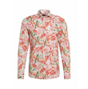 JOOP! Jeans Košile  zelená / růžová / krémová