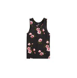 HOLLISTER Tričko  černá / pink / bílá
