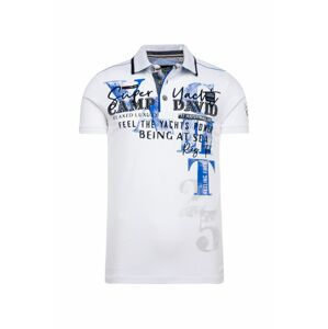 CAMP DAVID Tričko  černá / modrá / bílá