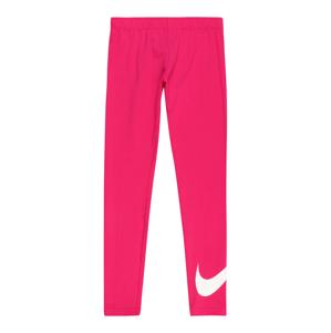 Nike Sportswear Legíny 'Favorites'  pitaya / bílá