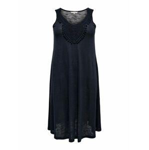 ONLY Carmakoma Letní šaty 'ELSA CROCHET'  tmavě modrá