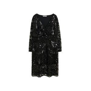 VIOLETA by Mango Koktejlové šaty 'Valeria'  černá