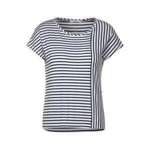 CECIL Tričko  bílá / marine modrá
