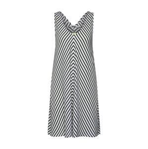 EDC BY ESPRIT Letní šaty 'CK Layered'  offwhite / noční modrá