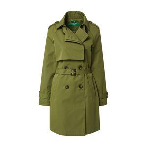 UNITED COLORS OF BENETTON Přechodný kabát  olivová