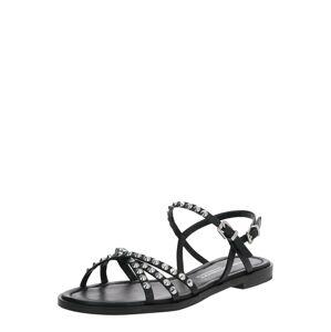 Kennel & Schmenger Páskové sandály 'Kito'  černá / stříbrná