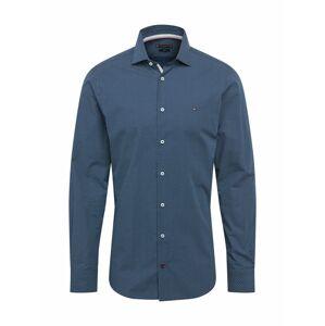 Tommy Hilfiger Tailored Košile 'Poplin'  bílá / námořnická modř