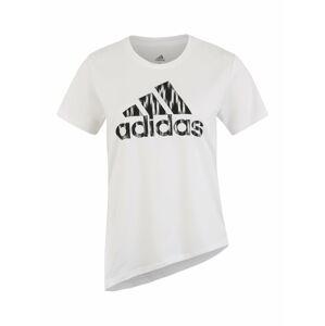 ADIDAS PERFORMANCE Funkční tričko 'IKAT BOS TEE'  černá / bílá