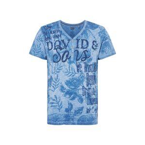 CAMP DAVID Tričko  kouřově modrá / mix barev