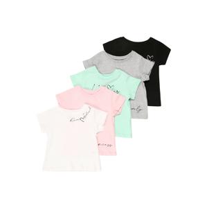 River Island Tričko  bílá / růžová / šedý melír / černá / mix barev