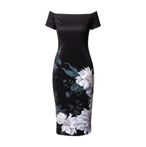 Ted Baker Společenské šaty 'Peaony'  černá / lenvandulová / smaragdová