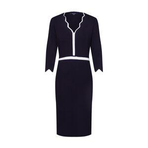 COMMA Úpletové šaty  černá / bílá