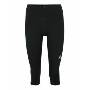 ODLO Sportovní kalhoty 'SMOOTH  SOFT'  černá / bílá