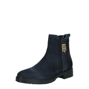 TOMMY HILFIGER Kotníkové boty  tmavě modrá / černá