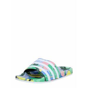 ADIDAS ORIGINALS Pantofle 'Adilette'  světlemodrá / zelená / pink