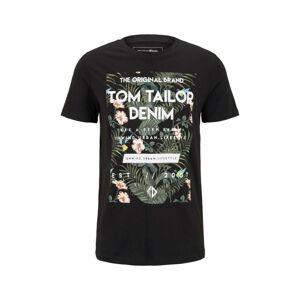 TOM TAILOR DENIM Tričko  černá / mix barev