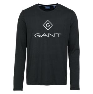 GANT Tričko  černá / bílá