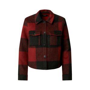 ONLY Přechodná bunda 'LOU'  červená / černá