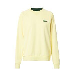 LACOSTE Mikina  tmavě zelená / žlutá