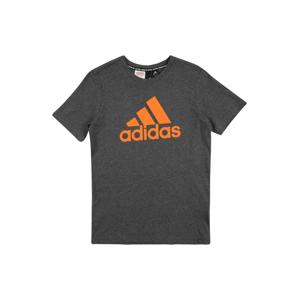 ADIDAS PERFORMANCE Funkční tričko  oranžová / tmavě šedá